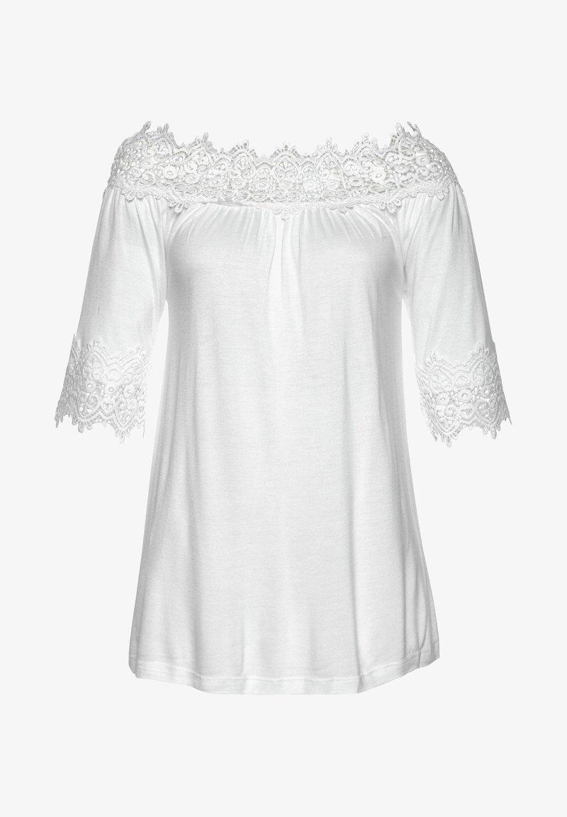 LASCANA - Long sleeved top - weiß