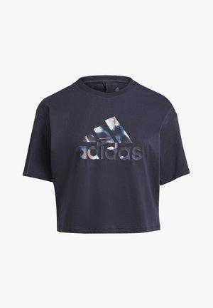 W UFORU  - Print T-shirt - blue
