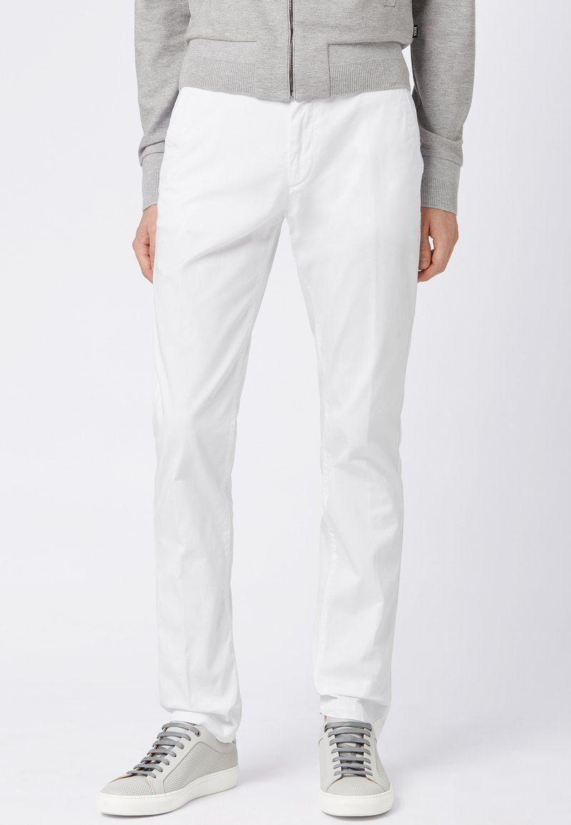 BOSS - RICE3-D SLIM FIT - Chinos - white