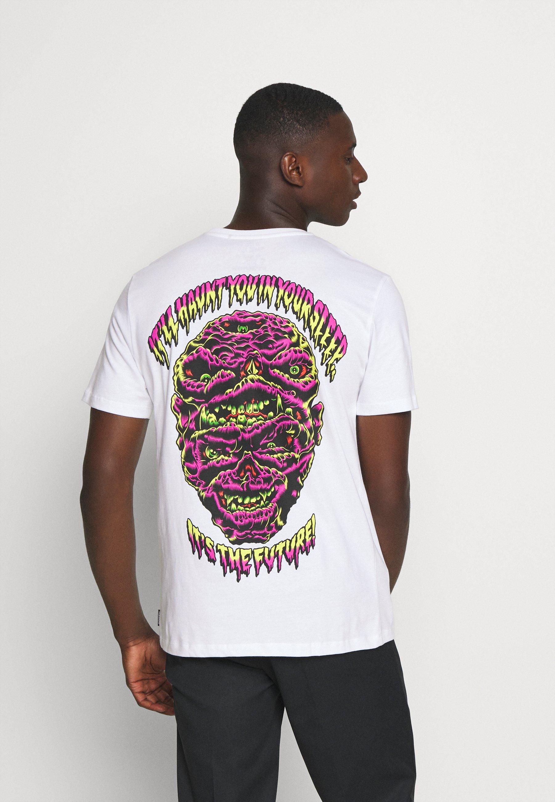 Volcom MICHAEL WALRAVE T shirts med print white Zalando.no