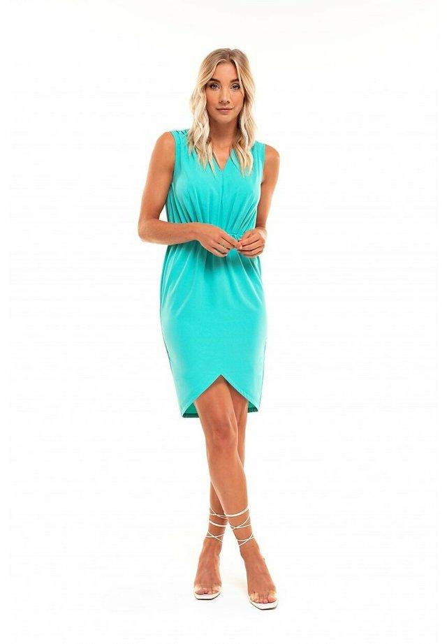 Korte jurk - turquoise