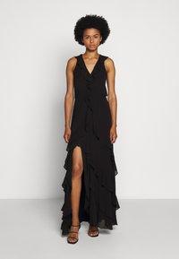 MICHAEL Michael Kors - SOLID RUFFLE MAXI - Occasion wear - black - 0