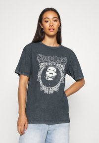 Topshop - SNOOP DOG FACE - T-shirts print - black - 0