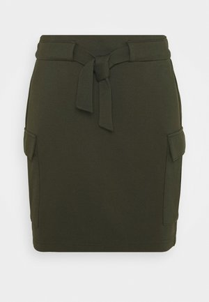 ONLPOPTRASH CARGO BELT SKIRT - Mini skirt - forest night