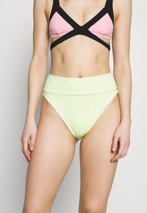 HI CUT CHEEKY PIECED LINED - Bikini pezzo sotto - lime fizz