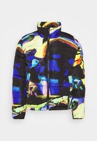 ART PRINT PUFFER JACKET - Zimní bunda - blue