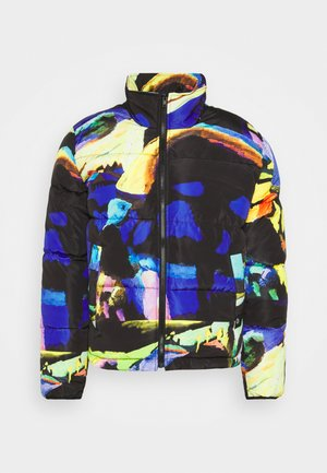 ART PRINT PUFFER JACKET - Winter jacket - blue