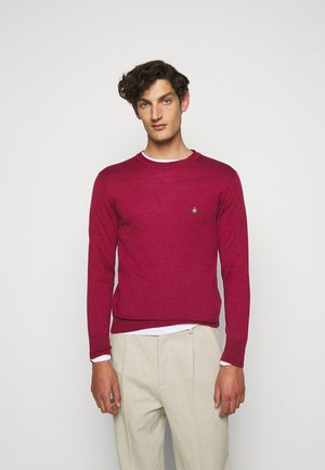 CLASSIC ROUND NECK - Jumper - dark red