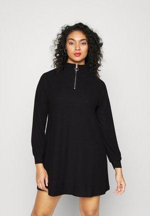 CARRINGO ZIP TUNIC - Jumper dress - black
