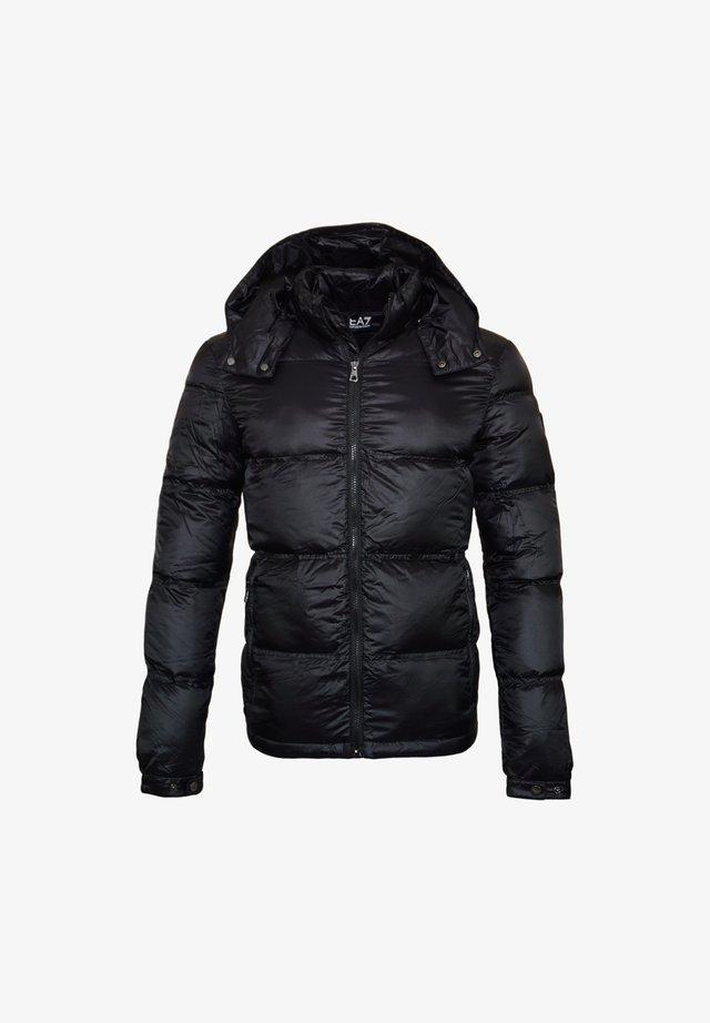 MIT KAPUZE WINT - Gewatteerde jas - black