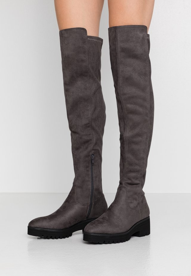 Over-the-knee boots - dark grey