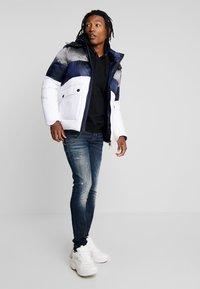 Antony Morato - COAT WITH STRIPES AND DETACHABLE HOOD - Winter jacket - white - 1