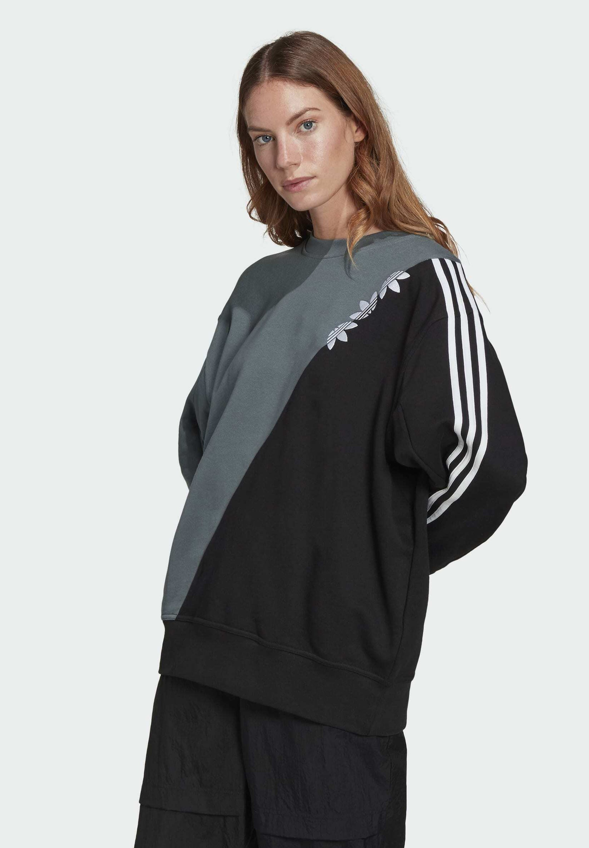 Women ADICOLOR SLICED TREFOIL SWEATSHIRT - Sweatshirt