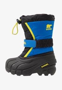 Sorel - YOUTH FLURRY - Zimní obuv - black/super blue - 1