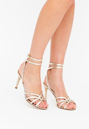 GRETA - High heeled sandals - platino