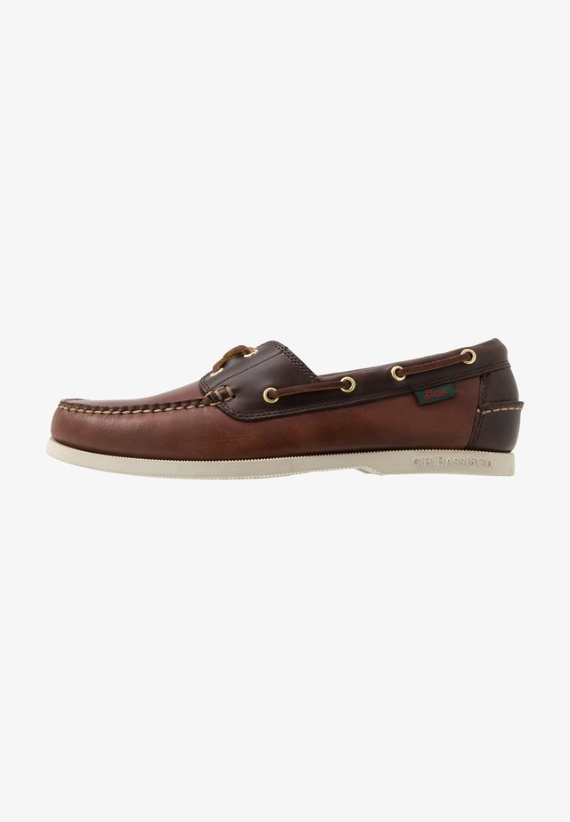 JETTY II BOATER - Boat shoes - dark brown/mid brown