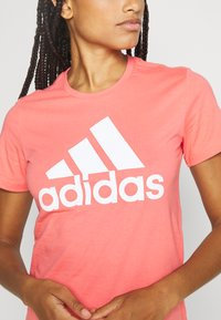 adidas Performance - BOS TEE - Print T-shirt - orange/white - 4