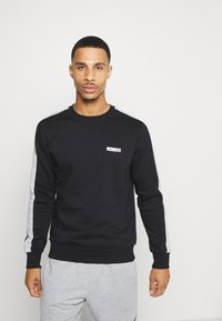 Jack & Jones Performance - JCOZ SPORT CREW NECK - Sweatshirt - black - 0