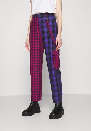 CRUX PANT - Trousers - pink/purple/black