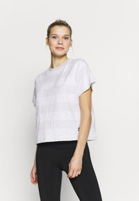 The North Face - WOMEN'S STRIPE - Print T-shirt - tin grey - 0
