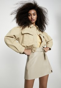 PULL&BEAR - Faux leather jacket - camel - 3
