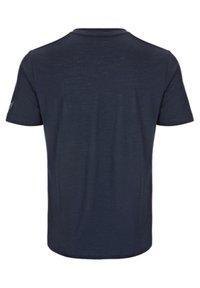 super.natural - SUPER.NATURAL MERINO T-SHIRT M BASE V-NECK TEE 140 - Basic T-shirt - blau - 2