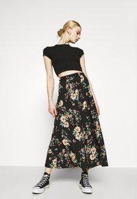 ONLY - ONLZILLE NAYA SKIRT - Maxi skirt - black - 3