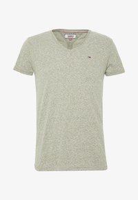 Tommy Jeans - VNECK TEE - T-shirt basique - uniform olive - 3