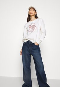 NU-IN - HIGH RISE WIDE LEG JEANS - Relaxed fit jeans - dark blue wash - 3