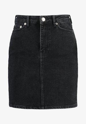 PAMELA SKIRT - Denimová sukně - black
