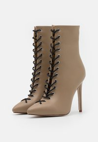 RAID - VELERY TOP UP - High heeled ankle boots - nude - 2