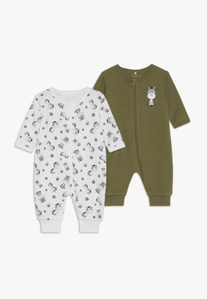 NBMNIGHTSUIT  ZIP 2 PACK - Pyjamaser - loden green