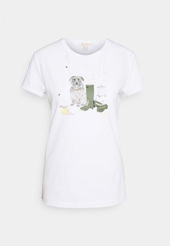 ROWEN TEE - Print T-shirt - white