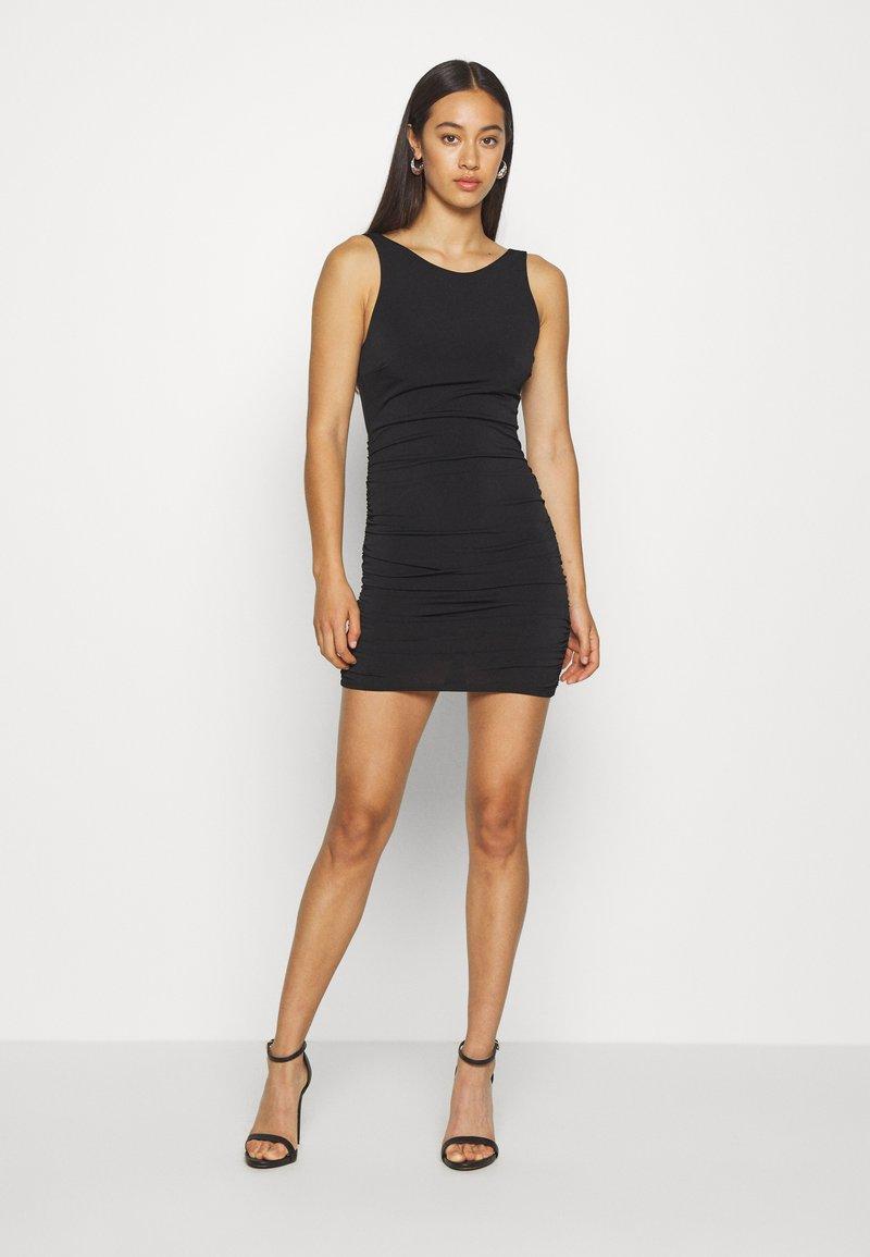 Miss Selfridge - BACKLESS DRESS - Shift dress - black