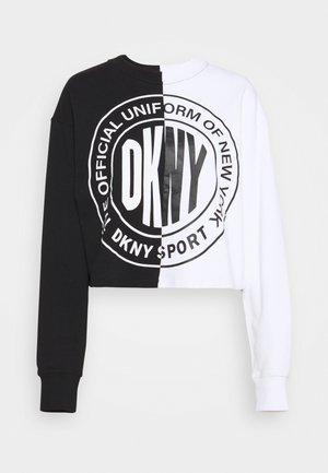 CROPPED SPLIT LOGO - Sweatshirt - black
