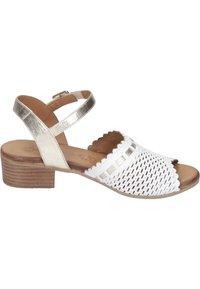 Piazza - Sandals - weiß/gold - 5