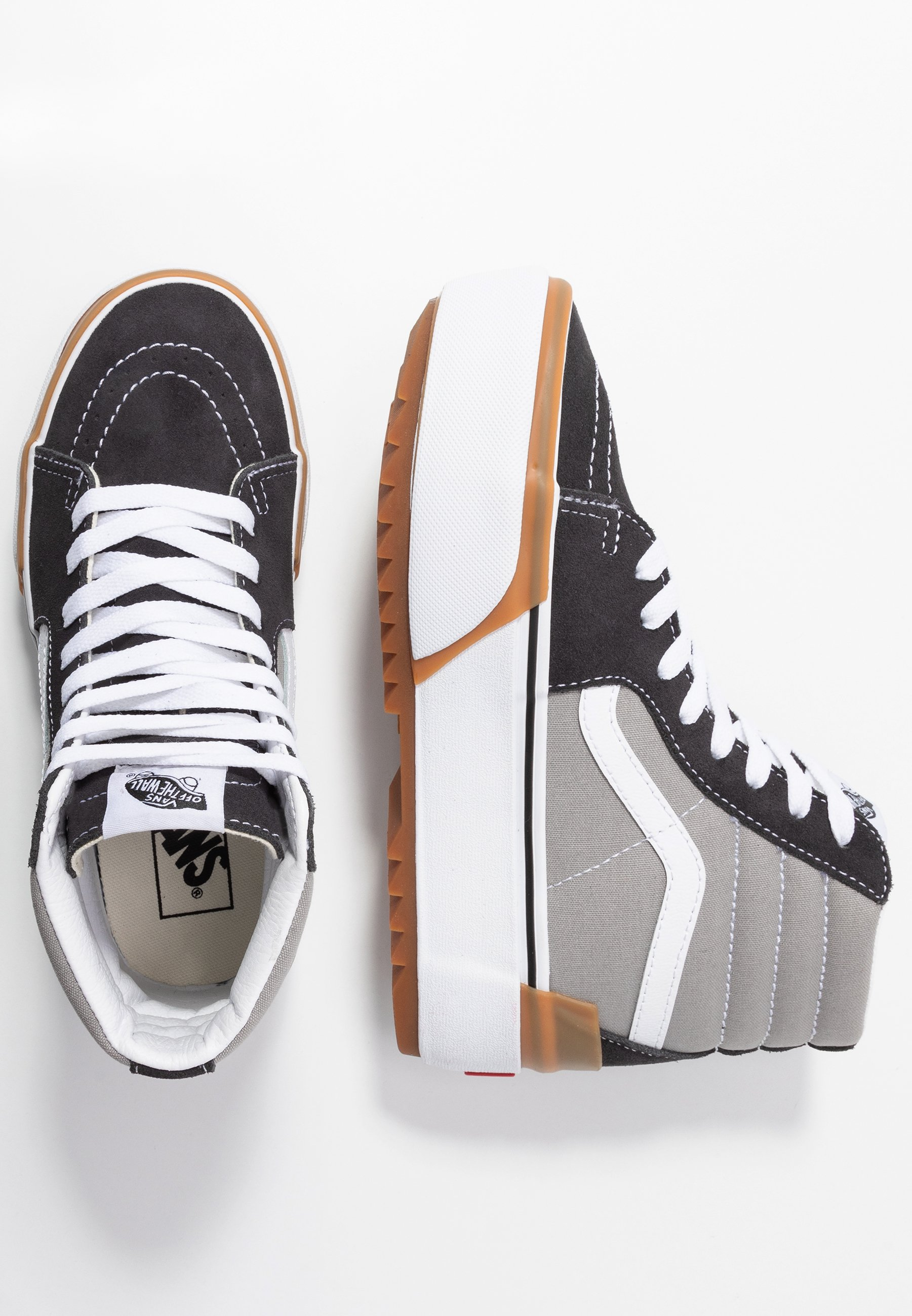 Vans Sk8 Stacked - Sneakers High Drizzle/true White