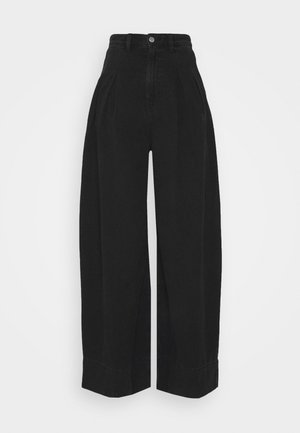 NANI PALAZZO - Straight leg jeans - black dark