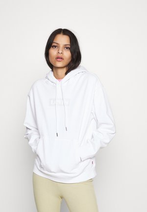 GRAPHIC HOOD - Collegepaita - white