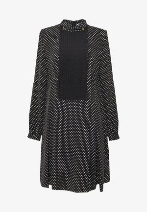 POLKA DOT BIB DRESS - Day dress - black