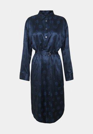 Košilové šaty - paradise blue