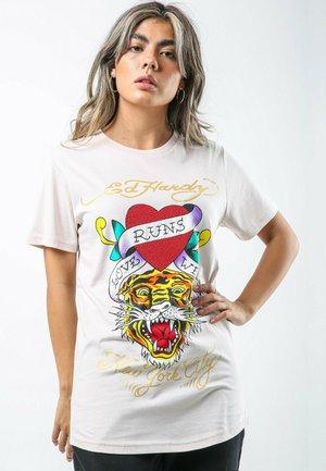 WILD-LOVE T-SHIRT LADIES - Print T-shirt - lilac