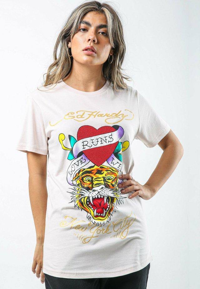 WILD-LOVE T-SHIRT LADIES - T-shirt print - lilac