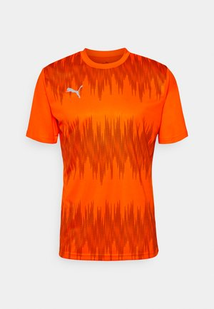 GRAPHIC CORE - Sportshirt - shocking orange/asphalt