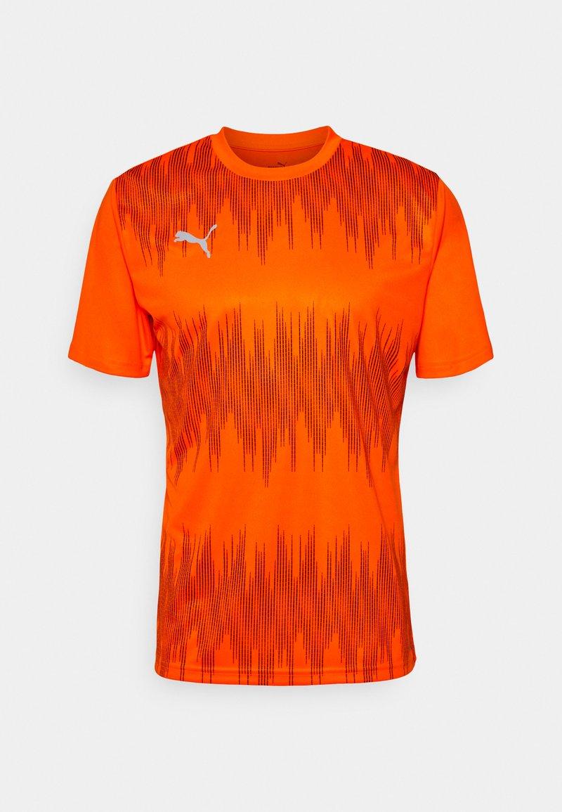 Puma - GRAPHIC CORE - Sportshirt - shocking orange/asphalt