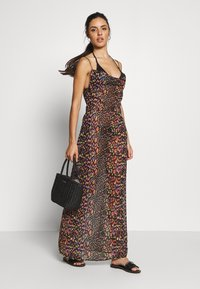 Missguided - LEOPARD PRINT COWL NECK DRESS - Complementos de playa - black - 1
