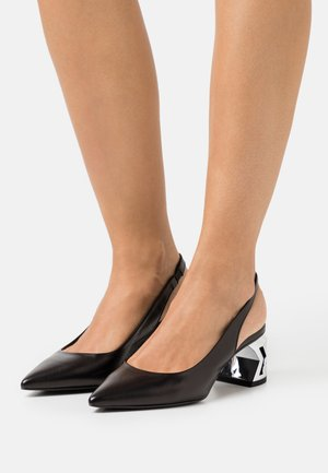 K-BLOK SHARP TOE SLINGBACK - Pumps - black