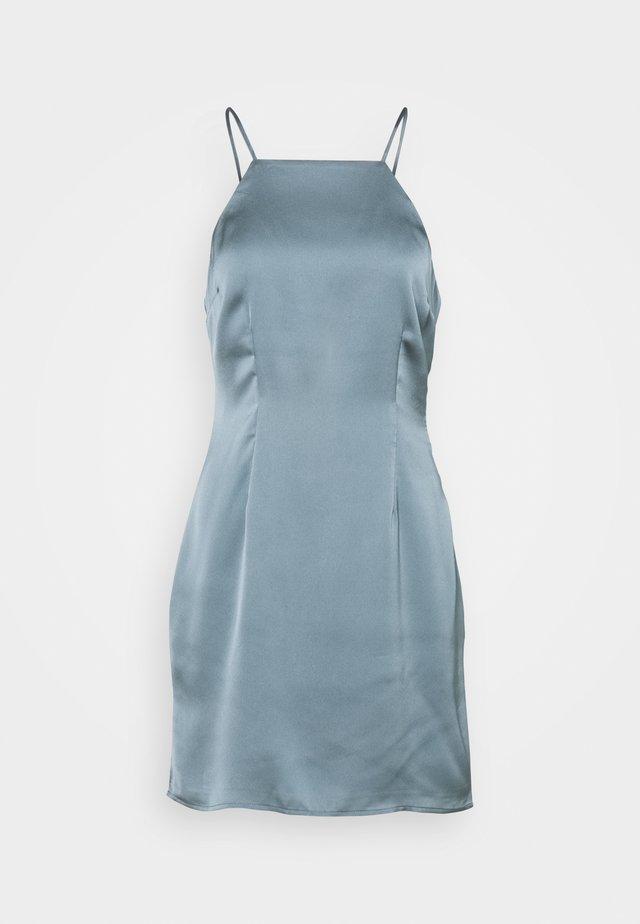 HALTER SLIP SHORT DRESS  - Juhlamekko - champagne