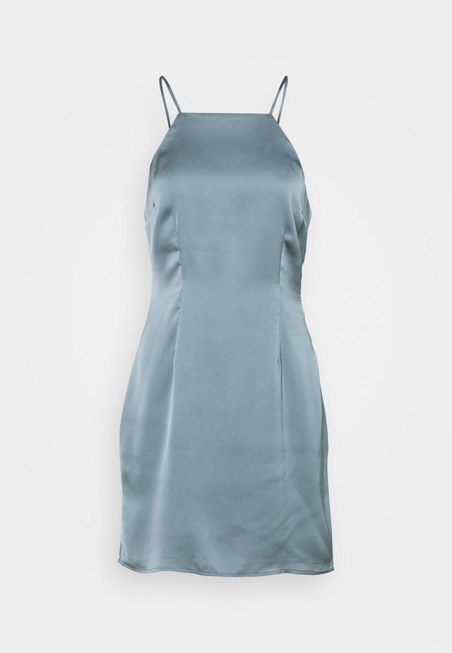 HALTER SLIP SHORT DRESS  - Denní šaty - champagne