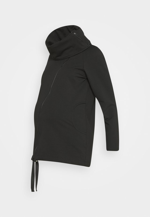 DOCCA - veste en sweat zippée - black